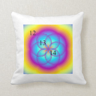 12-13-14 Stained Glass Throw Pillow