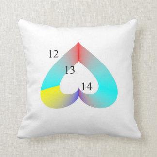 12-13-14 Upside Down Rainbow Heart Pillow