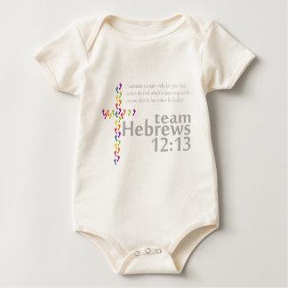 12:13 de los hebreos del equipo body para bebé