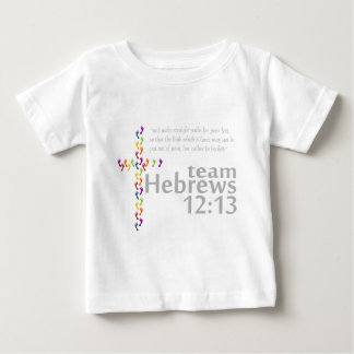 12:13 de los hebreos del equipo playera de bebé