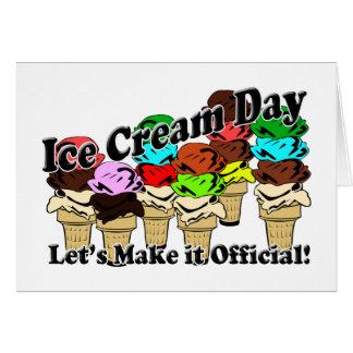 12-13 día del helado (oficioso) tarjeta pequeña