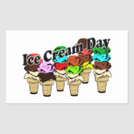 12-13 Ice Cream Day (Unofficial) Rectangle Stickers