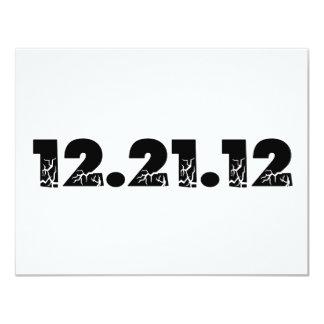 12.21.12 2012 December 21, 2012 Custom Invite