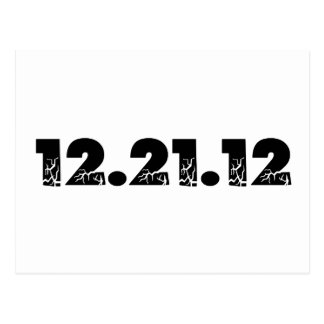 12.21.12 2012 December 21, 2012 Postcard