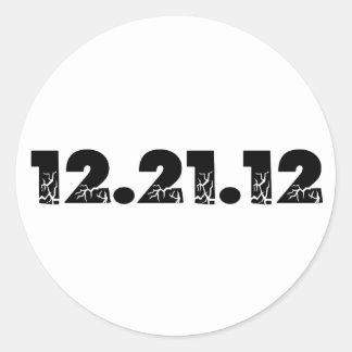12.21.12 2012 December 21, 2012 Round Stickers