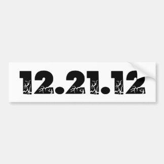 12.21.12 21 de diciembre de 2012 2012 pegatina de parachoque