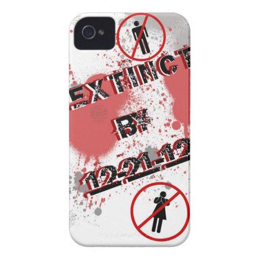 12-21-12 extinto Case-Mate iPhone 4 fundas