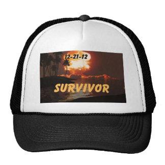 12-21-12 superviviente del extremo de la tierra gorros