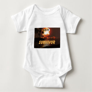 12-21-12 Survivor of the end of the earth Baby Bodysuit