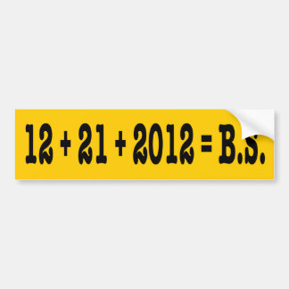 12 + 21 + 2012 B S ETIQUETA DE PARACHOQUE
