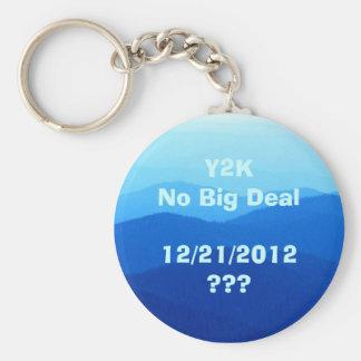 12/21/2012 Blue Skies Key Ring Basic Round Button Keychain