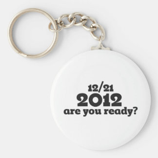 12/21 2012 end of the world basic round button keychain