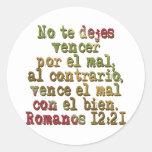 12:21 de Romano el Mélodo Pegatinas Redondas
