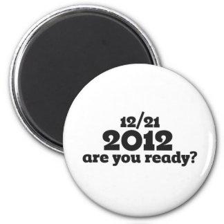 12/21 extremo 2012 del mundo imán de frigorífico