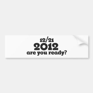 12/21 extremo 2012 del mundo pegatina para auto