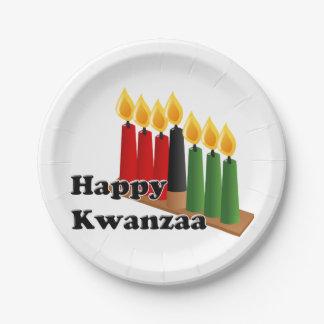 12-26 Happy Kwanzaa 7 Inch Paper Plate