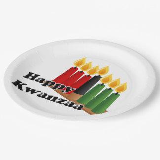 12-26 Happy Kwanzaa 9 Inch Paper Plate