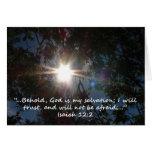 """""""12:2 de Isaías"""" por Carretero L. Shepard Tarjetón"""