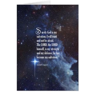 12:2 de Isaías Tarjeta De Felicitación