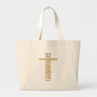 12:2 de los hebreos - bolso de la playa del oro bolsa tela grande
