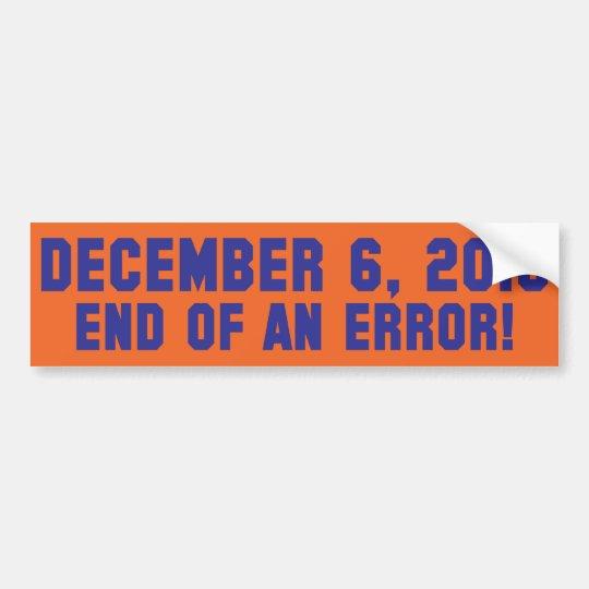12.6.10 - End of an Error! - Coach M is FIRED! Bumper Sticker