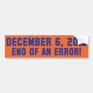 12.6.10 - ¡Final de un error! ¡- SE ENCIENDE el co Etiqueta De Parachoque