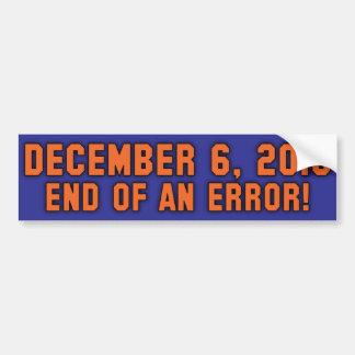 12.6.10 - ¡Final de un error! ¡- SE ENCIENDE el co Pegatina De Parachoque