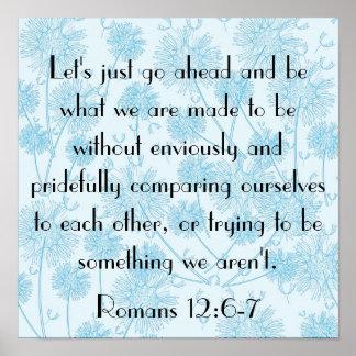 12:6 de los romanos del recordatorio del verso de  posters