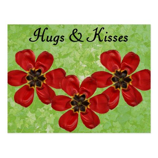 12 abrazos y besos postal