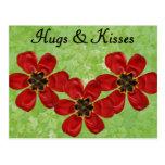 12 abrazos y besos tarjetas postales