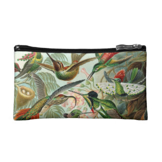 12 american humming birds breeds painted drawn cosmetic bags
