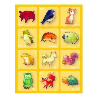 12 Animals Postcard(Customizable)