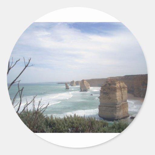 12 Apostel Australia Pegatina Redonda