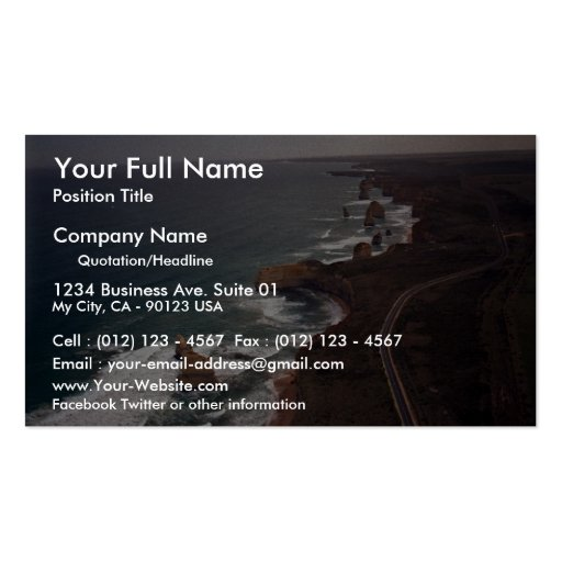 12 Apostles rock formation, Victoria, Australia Double-Sided Standard Business Cards (Pack Of 100)