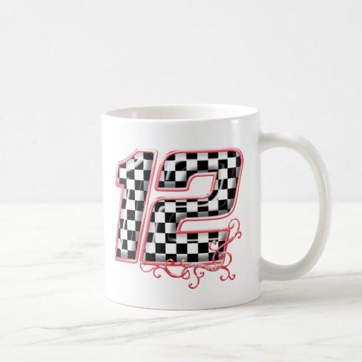 12 auto racing number coffee mug