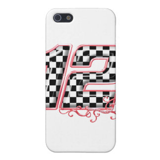 12 auto racing number cover for iPhone SE/5/5s