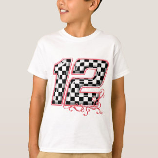 12 auto racing number T-Shirt