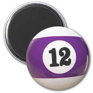 """""""12 Ball"""" pool ball design gifts and products 2 Inch Round Magnet"""