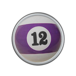 """""""12 Ball"""" pool ball design gifts and products Bluetooth Speaker"""