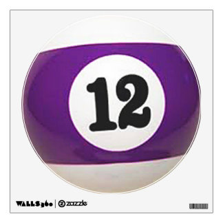 """12 Ball"" pool ball design gifts and products Wall Sticker"