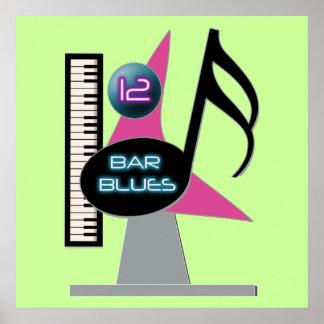 12 Bar Blues Bar Poster