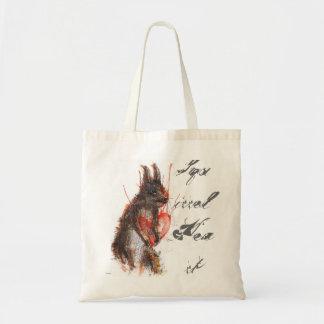 12, Ben Bag, Squirrel Heart Tote Bag