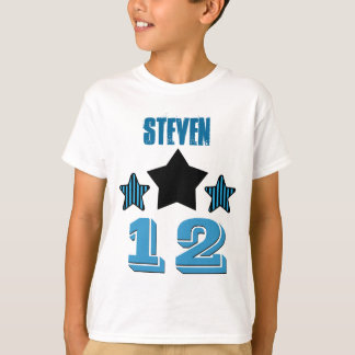 12 Birthday Boy STARS Custom Name V02A T-Shirt
