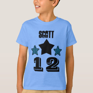 12 Birthday Boy STARS Custom Name V02B T-Shirt