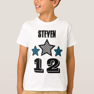 12 Birthday Boy STARS Custom Name V03 T-Shirt