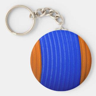 12 Blue & Orange Keychain