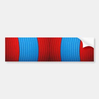 12 Blue & Red Bumper Sticker Car Bumper Sticker