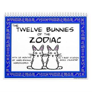 12 Bunnies of the Zodiac 2011 Calendar