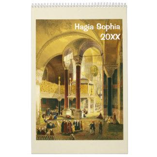 12 calendario de pared de Hagia Sophia 2017 del