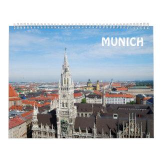 12 calendario de pared de Munich 2017 del mes